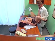 Fake Hospital: poor patient with awesome boobs gets hammered during her annual health survey
