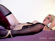 Excellente vidéo porno mettant en vedette charmante blonde en nubile, lingerie avoir des relations sexuelles avec une forte amant