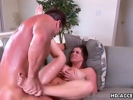 Unstoppable fucker is drilling juicy vagina of big-breasted dame like this is the last time
