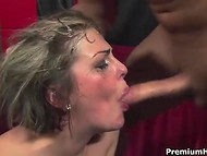 Man will be surely satisfied after such a skilled deepthroat blowjob