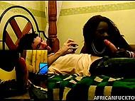 Парнишке нужно было расслабиться, поэтому рот африканки пришёлся как нельзя кстати