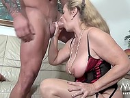 Mature female from Germany couldn't imagine that today she would be fucked by big bodybuilder