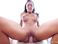 Big-boobied licentious sexpot worked off her part with bang satisfying accomplished man