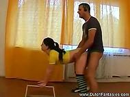 Тренер наладил отличную координацию с Голландской партнёршей в области спортивной ебли
