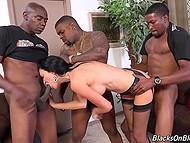 Black men with great dicks, who know a lot about fucking, took care of busty British Jasmine Jae