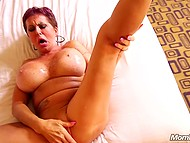 Sugar mature lady has got her lush shapes and now she is using them in sex video with young male