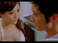 Обворожительная Shiga Lin демонстрирует своё тело и сексуальные навыки в нарезках из фильма