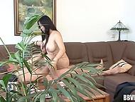 Если присмотреться, то за домашним кипарисом можно заметить, как волосатый мужик пялит азиатскую мадам