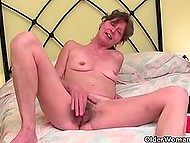 Compilation of amateur clips featuring old perverted woman polishing unshaven cunt
