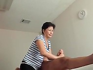 Experienced Asian masseuse knows exactly how to give new customer real pleasure