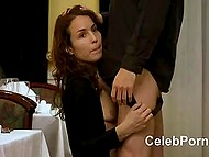 Famous Swedish actress Noomi Rapace gets roughly fucked several times in movie for adults