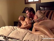 Muscular stud and stunning Latina MILF Daisy Marie came in the bedroom to have passionate sex