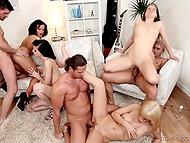 Первоклассная групповушка с работящими самцами и ненасытными подружками