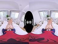 Kena VR XXX video, kus petite teen Gina Gerson hüved Spider-Man sugu