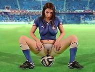 Itaalia jalgpallikoondis miss World Cup, nii et buxom Valentina Nappi arvestust kuum video toetajaid