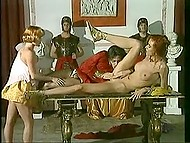 Roman emperor got upset about losing but two concubines quickly fixed that with anal sex