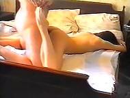1996 любителски лентата показва как и руски мъж чука жена си коси Писана в спалнята