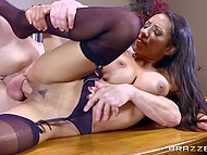Office worker's filthy words lead to sex with tempting Latina in hot clothing Priya Price