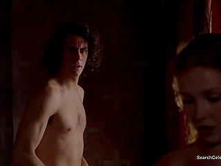 Young prince fucks medieval beauty in his chambers in sex scene from great celebrity movie