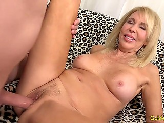 Long-haired mature Erica Lauren is always eager to spread legs for partner's penis