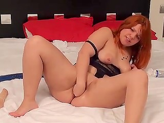 Small fist is the best sex toy for Latina with red hair that can be ever shoved in pussy