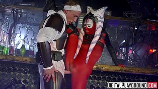 Imperial trooper leaves Datomirian witch alive in exchange for drilling her smooth pussy