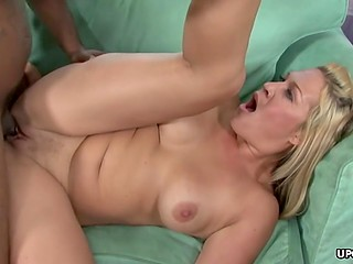 All blonde female needs to be satisfied is hard black dick invading her skillful cherry