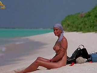 Hot celebrity Bo Derek from Ghosts Can't Do It is irresistibly fascinating showing off touchable melons