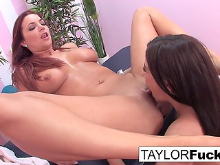 Masseuse Taylor Vixen and classy client Jayden Cole during session become in mood for lesbian affair