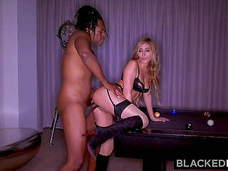 Owner of massive black cock actively nails unfaithful Latina wife Moka Mora in darkened bedroom