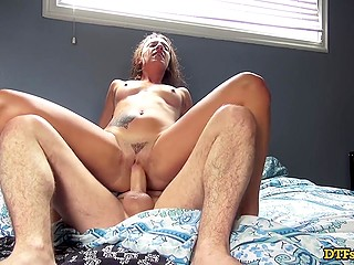 Libertine female show house to boyfriend and gets a bonus in form of dick banging her cherry