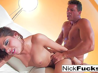 Highly emotional man with the muscled body is ready to fuck awesome Latina girl for a whole weekend