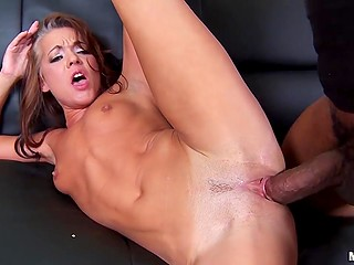 Sex is inevitable when there are black guy with thick cock and hungry Russian Claudia Adkins