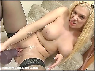 Girl has no lover for tonight but there's a rambone that is much better than any of guys' cocks