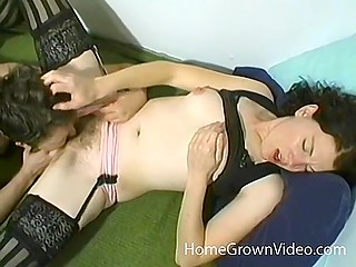 Female boss secludes herself together with employee of the month in the bedroom for fucking