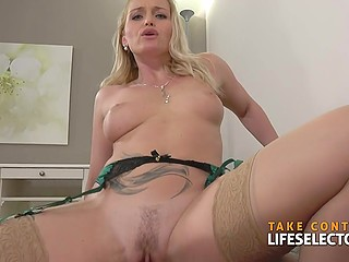 Natural female is so beautiful that man is getting off on touching her and fucking pussy