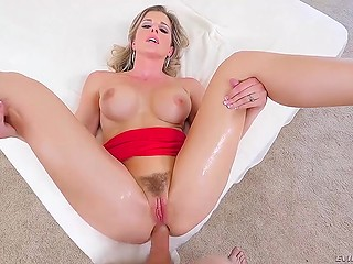 Woman doesn't manage to reach orgasm because stepson catches her and she takes cock in both holes