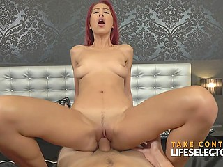 Master of flirt with ease coaxes various attractive Euro hotties to suck and ride his meatstick