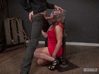 Tied up girls serve at the pleasure of dominant men satisfying their sexual needs