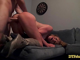 Whore seeks from guy tough vaginal fucking and languidly licks warm sperm off her lips