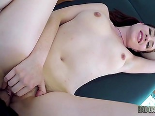 Girl over thirty with two ponytails Jessica Ryan is fucked by her own stepfather on camera