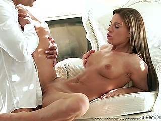 Businessman always hurries to come home and have wonderful sex with marvelous wife