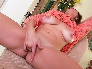 Husband doesn't pay attention to horny wife so she is going to masturbate and cum on her own