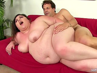 Once entering career ordinary BBW takes control over director's cock and uses it as intended