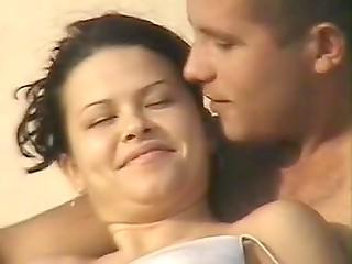 Man has to work hard to secretly film beautiful half-naked Greek babe on the beach