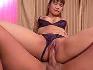 Womanizer skillfully exploits small dick to give satisfaction to slutty young oriental woman