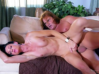 Slim brunette MILF India Summer cheats on imperious husband with her experienced inamorato