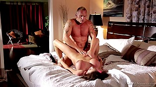 Muscled stallion comes to big-boobied Latina's house for fuck after her husband goes on a work trip