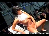 A lot of beautiful girls were introduced to the public by performing striptease on stage