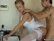 Infidelity bride with charming eyes Nicole Aniston fucks her husband's friend before the wedding